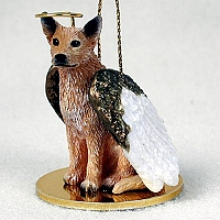 Australian Cattle Red Dog Pet Angel Ornament