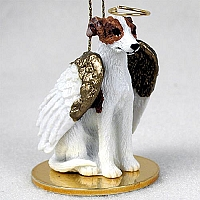 Whippet Brindle & White Pet Angel Ornament