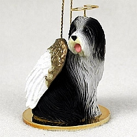 Bearded Collie Pet Angel Ornament