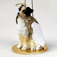 Australian Shepherd Brown Pet Angel Ornament