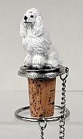 Poodle White Bottle Stopper