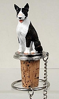 Bull Terrier Brindle Bottle Stopper