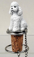 Poodle White w/Sport Cut Bottle Stopper