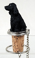 Cocker Spaniel English Black Bottle Stopper