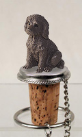 Labradoodle Chocolate Bottle Stopper