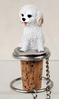 Cockapoo White Bottle Stopper