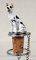 Great Dane Harlequin Bottle Stopper