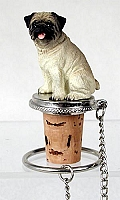 Pug Fawn Bottle Stopper