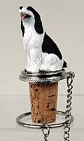 Springer Spaniel Black & White Bottle Stopper