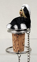 Shih Tzu Black & White Bottle Stopper