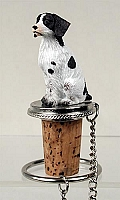 Brittany Liver & White Spaniel Bottle Stopper