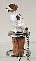 Brittany Brown & White Spaniel Bottle Stopper