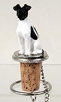 Fox Terrier Black & White Bottle Stopper