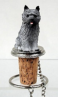 Cairn Terrier Gray Bottle Stopper