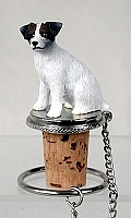 Jack Russell Terrier Brown & White w/Rough Coat Bottle Stopper