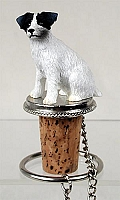 Jack Russell Terrier Black & White w/Rough Coat Bottle Stopper