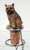 Norwich Terrier Bottle Stopper