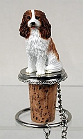 Cavalier King Charles Spaniel Brown & White Bottle Stopper