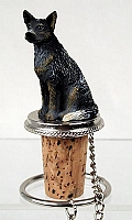 Australian Cattle BlueDog Bottle Stopper