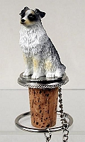 Australian Shepherd Blue Bottle Stopper