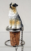 Australian Shepherd Blue w/Docked Tail Bottle Stopper