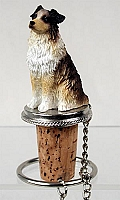 Australian Shepherd Brown w/Docked Tail Bottle Stopper