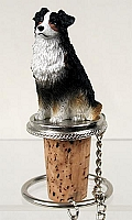 Australian Shepherd Tricolor Bottle Stopper