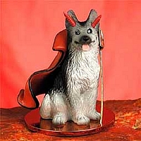 German Shepherd Black & Silver Devilish Pet Figurine
