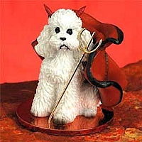 Poodle White w/Sport Cut Devilish Pet Figurine