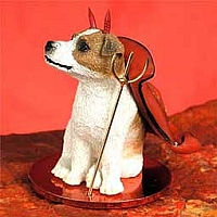 Jack Russell Terrier Brown & White w/Smooth Coat Devilish Pet Figurine