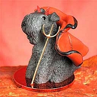 Kerry Blue Terrier Devilish Pet Figurine