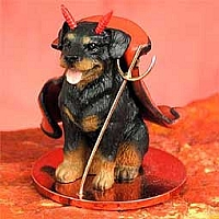 Rottweiler Devilish Pet Figurine