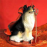 Collie Tricolor Devilish Pet Figurine