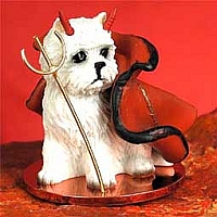 West Highland Terrier Devilish Pet Figurine