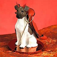 Fox Terrier Brown & White Devilish Pet Figurine
