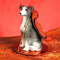 Greyhound Blue Devilish Pet Figurine