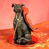 Greyhound Brindle Devilish Pet Figurine
