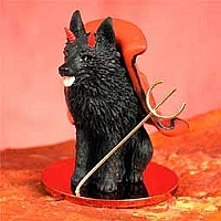 Schipperke Devilish Pet Figurine