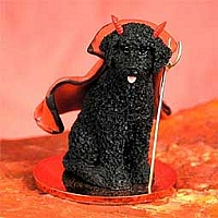 Portuguese Water Dog Devilish Pet Figurine