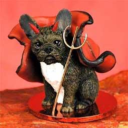 French Bulldog ANGEL Tiny One Ornament Figurine Statue