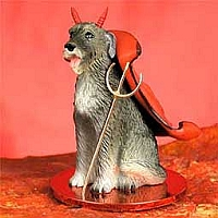 Irish Wolfhound Devilish Pet Figurine