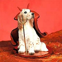 English Setter Belton Orange Devilish Pet Figurine