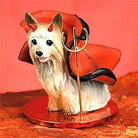 Silky Terrier Devilish Pet Figurine
