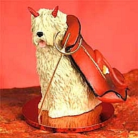 Soft Coated Wheaten Terrier Devilish Pet Figurine