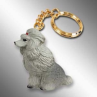 Poodle Gray Key Chain