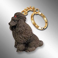 Poodle Chocolate Key Chain