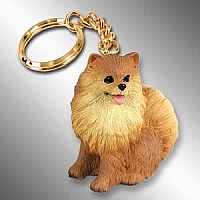 Pomeranian Red Key Chain