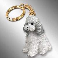 Poodle Gray w/Sport Cut Key Chain