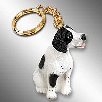 Pointer Black & White Key Chain