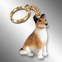 Collie Smoth Hair Key Chain